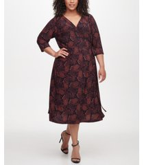tommy hilfiger plus size vilette paisley-print dress