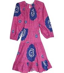 emelyn dress in fuchsia
