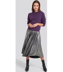 na-kd party midi pleated skirt - silver