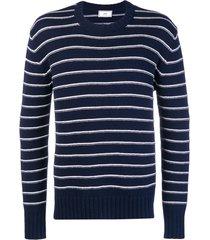 ami breton stripes sweater - blue