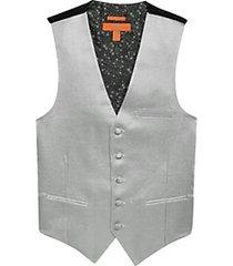 egara orange silver metallic formal vest