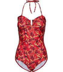 kellygz swimsuit b baddräkt badkläder röd gestuz