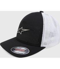 gorra negro-blanco alpinestars perf hat