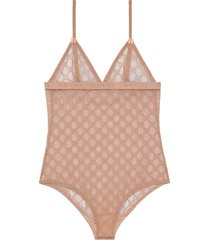 gucci gg tulle bodysuit - pink