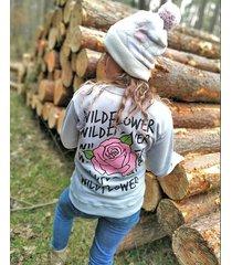 bluza z nadrukiem róży wildflower