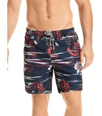 pantaloneta verano silueta corta hawai para hombre-negro