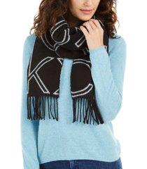 calvin klein large logo woven scarf