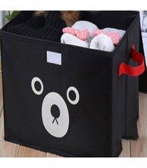 espesar soportar impresión de tela oxford caja de almacenamiento de juguete negro organizador de almacenaje de ropa