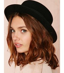 new wool boater flat top hat for women's felt wide brim fedora hat laday prok