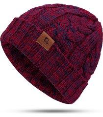 cappello invernale da donna bicolore con cappuccio berretto in lana bicolore con cappuccio bicolore