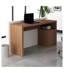 mesa para escritório tecno mobili me4130 com 2 gavetas