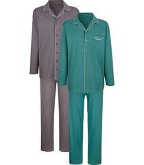 pyjama's per 2 stuks g gregory antraciet::petrol