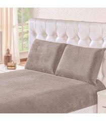jogo de cama soft cinza solteiro 02 peças - manta microfibra