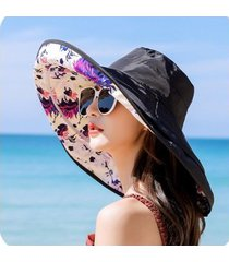 sombrero de protección solar salvaje para mujer, sombrero negro
