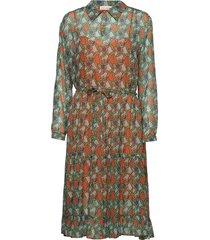 ellinor jurk knielengte oranje custommade