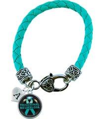 custom bracelet trigeminal neuralgia teal awareness jewelry initial or family