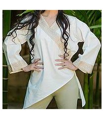 cotton blouse, 'china paths' (thailand)
