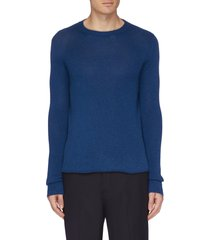 roll hem cashmere sweater