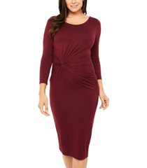 a pea in the pod maternity twist-front dress