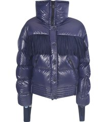 moncler grenoble tassel applique padded jacket