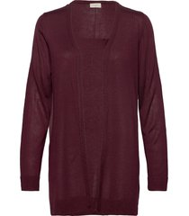 elina-l-car stickad tröja cardigan röd free/quent