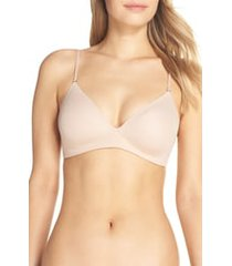 women's on gossamer next to nothing wireless bra, size 30d - beige