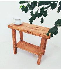 ławka dębowa - konsola z półką