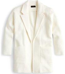 women's j.crew new lightweight sweater blazer, size large - ivory
