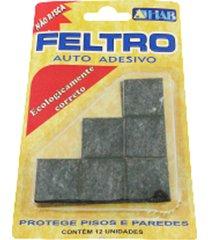 protetor adesivo para móveis hab feltro quadrado, 30 x 30mm
