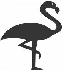 enfeite decorativo pã¡ssaro flamingo silhueta preto 43x30x1cm - preto - dafiti