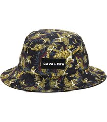 chapéu bucket cavalera tigre preto/amarelo