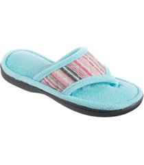 isotoner women's diamond quilted renae thong slippers
