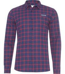 camisa masculina xadrez etiqueta - azul