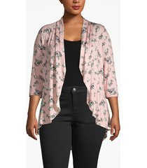 lane bryant women's drape-front cardigan 26/28 boudoir floral