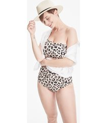 women's madewell second wave ribbed ruffle-strap one-piece swimsuit, size small -