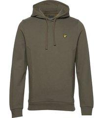 panelled hoodie hoodie trui groen lyle & scott