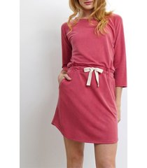 coin 1804 womens washed french terry raglan cinched waist tunic