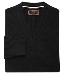 reserve collection tailored fit cotton blend cable knit v-neck men's sweater - big & tall clearance