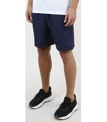 bermuda masculina esportiva ace com bolso azul marinho