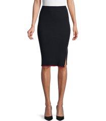 rag & bone women's kishi seamless pencil skirt - black - size xs