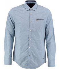 pme legend blauw geruit overhemd