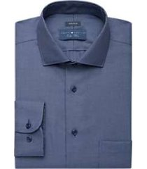 joseph abboud indigo blue woven dress shirt blue