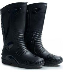 botas de lluvia motociclismo unisex negro