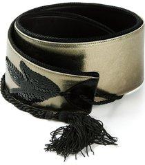jean louis scherrer pre-owned sequined belt - metallic