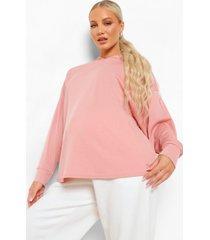 zwangerschap oversized geribbelde hoodie, dusky pink