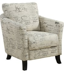 monarch specialties linen accent chair