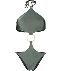 cult gaia serena cutout swimsuit - green