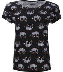 camiseta estampada elefantes