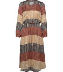 board ls midi dress jurk knielengte multi/patroon second female