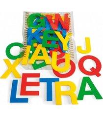 alfabeto móvel e.v.a. 36 letras 10 cm de altura - jottplay